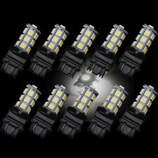10Pcs 3157 White 18SMD 5050 Reverse Brake/Stop/Turn Tail Back Up LED Light Bulb