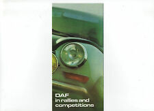 1970 DAF car leaflet: DAF in rallies and competitions