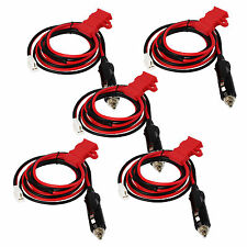 5X New RED 12V DC Power Cord Cable for ICOM Kenwood TM-271 YAESU FT-1802M Hot