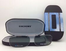 COCOONS Grey Polarized Sunglasses/Eyeglasses Over Rx Clip-on REC 15-54 Gunmetal