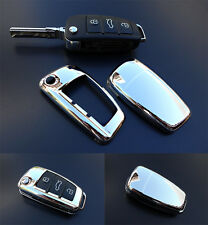 CHROME-Audi Remote Flip Key Cover Case Skin Shell Cap Fob Protection Hull S Line