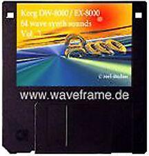 Sound-Set Korg DW-8000/EX-8000 Volumen 3 Midisounds waveframe, Yamaha,Roland,EMU