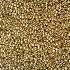 20 grams Perm finish Galvanized Starlight Gold Toho Size 8 Seed Beads - PF557