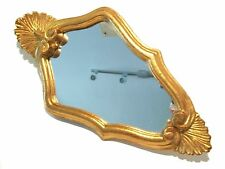 Vintage Florentine Style Gilt Wood Mirror - Italy - Late 20th Century