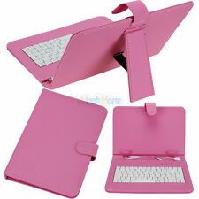 """Leather Folder Pouch Cover Case With USB Keyboard for 9"""" inch Android Tablet PC"""