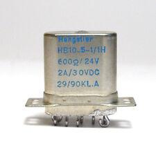 Mil relés hengstler hb-10-5-1/1h bobina, 600 ohm/24v, 2x 2a/30 para VDC, Sealed