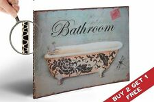 BATHROOM Bath Tube Vintage SIGN POSTER  30x21cm A4 Retro Old Style Wall Decor