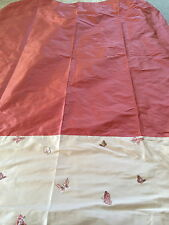 STUNNING Laura Ashley Design Service silk & Butterfly Curtains 125 cm wide