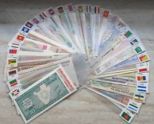 New Paper Money 100pcs World Banknotes UNC from 30 countries with Flags