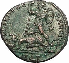 CONSTANTIUS II Constantine the Great son Ancient Roman Coin Battle Horse i46699