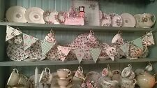 SHABBY CHIC WOODEN BUNTING MADE USING CATH KIDSTON DUCK DESIGN KITCHEN DRESSER