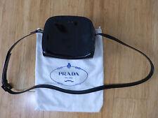 Prada Small Black Patent Leather Handbag Purse Dust Bag Italy