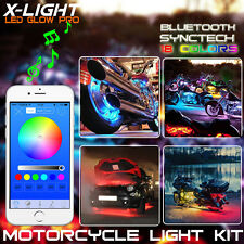 14xLights Flash to Music Bluetooth Motorcycle LED Strip Kit Neon Glow Body Frame