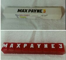 Max Payne 3 prescription pill box Rockstar Games Max Payne 3 rare promo swag