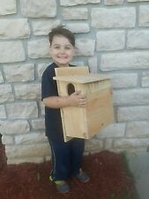 Cedar Squirrel House, Nesting Box, Free Shipping ~ Three Brothers Birdhouses