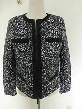 BNWT Michael Kors Black White Short  Zip Up Jacket size L