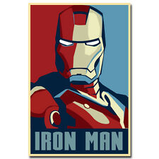 Iron Man Superheroes Comic Movie Silk Poster 24x36 inches Home Wall Decor