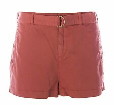 TOPSHOP Women's Brick Red D-Ring Belted Shorts 14H27Y US Size 10 $60 NEW