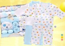 18pcs/Set Blue Cute Bears Cotton newborn Baby Winter Clothes Sets