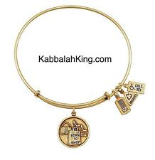 Wind & Fire Born To Shop Charm Gold Stackable Bangle Bracelet Made In USA