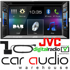 "JVC kw-v235dbt 6.2"" DOPPIO DIN DVD BLUETOOTH IPHONE DAB Radio Stereo & antenna"