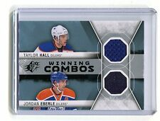 2014-15 SPX Winning Combos #WC-EH Hall Eberle Oilers Jersey jh10