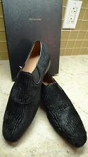 DRIES VAN NOTEN LUXURY PONY HAIR BLACK SLIP ON SHOES ITALY SIZES 40/7 41/8. 42/9