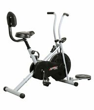 DEEMARK BODY GYM AIR BIKE 1001 WITH BACK REST & TWISTER FOR HOME USE (BLACK)