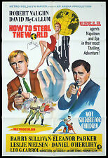 HOW TO STEAL THE WORLD Vintage Original One Sheet Movie poster MAN FROM UNCLE
