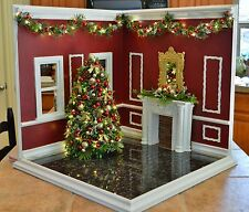 """1/6 Scale Hand Crafted Diorama  """"Christmas Corner Room""""  031"""