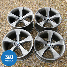 "GENUINE BMW X6 20"" 259 M SPORT 5 STAR SPOKE FERRIC GREY ALLOY WHEELS E71 E72"