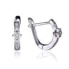 Fabulous Cubic Zirconia Earrings Hoop 925 Sterling Silver Unique For Women