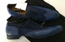 Paul Smith DIP dye blue miller chaussures en cuir aile-tip taille UK6.5/UK7 EU40/41