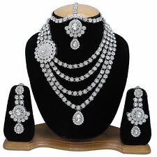 Ethnic Indian Traditional Necklace Earring Set Bridal Bollywood Wedding Jewelry