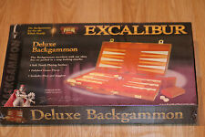 RARE Excalibur Deluxe Backgammon set (polished game pieces) 9157 AGE 7+