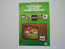 advertising Pubblicità 1975 TELEVISORE GRUNDIG SUPER COLOR 2222