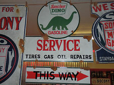 Antique barn find style Sinclair Dino service station gas pump sign