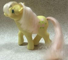 Vintage My Little Pony Posey G1 Earth Pony 1984 Yellow Pink Flowers
