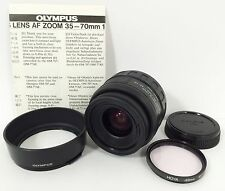 Olympus OM AF Zoom 35-70mm f3.5-4.5 Lens w/Filter Cap & Hood For OM Camera Japan