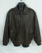 Mens Orvis Leather bomber jacket size XL