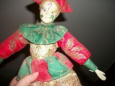 Funny Elf, Clown, Jester, Christmas Doll Rare Vintage Good Stuff Haunted Creepy