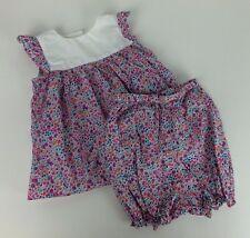 Harrod's of London Infant Girl Boutique 6-9 Month Floral Blouse Pantaloon Set