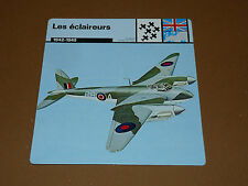 ECLAIREURS MOSQUITO B IV OBOE RAF 1942-1945 ENGLAND AVIATION FICHE WW2 39-45