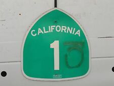 California Golden State Pacific Coast Highway 1 route road sign shield USED REAL