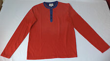 NWT Lucky Brand Long Sleeve Red w/ Blue Button Top T-Shirt    XX-Large     L1569