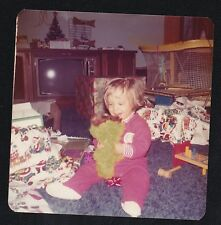 Vintage Photograph Little Boy on Floor With Oscar The Crouch Doll Retro TV 1976