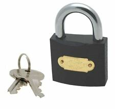 New 50mm Heavy Duty Cast Iron Padlock Outdoor Safety Security Shackle With Keys