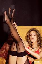 Bas Voile Noir à couture Noir Lingerie NEUF SEXY