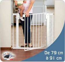 "BARRIERE DE SECURITE ""S"" EXTENSIBLE DE 79cm à 91cm / Enfant / Parc / Escalier"