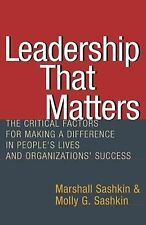 Leadership That Matters : The Critical Factors for Making a Difference in...